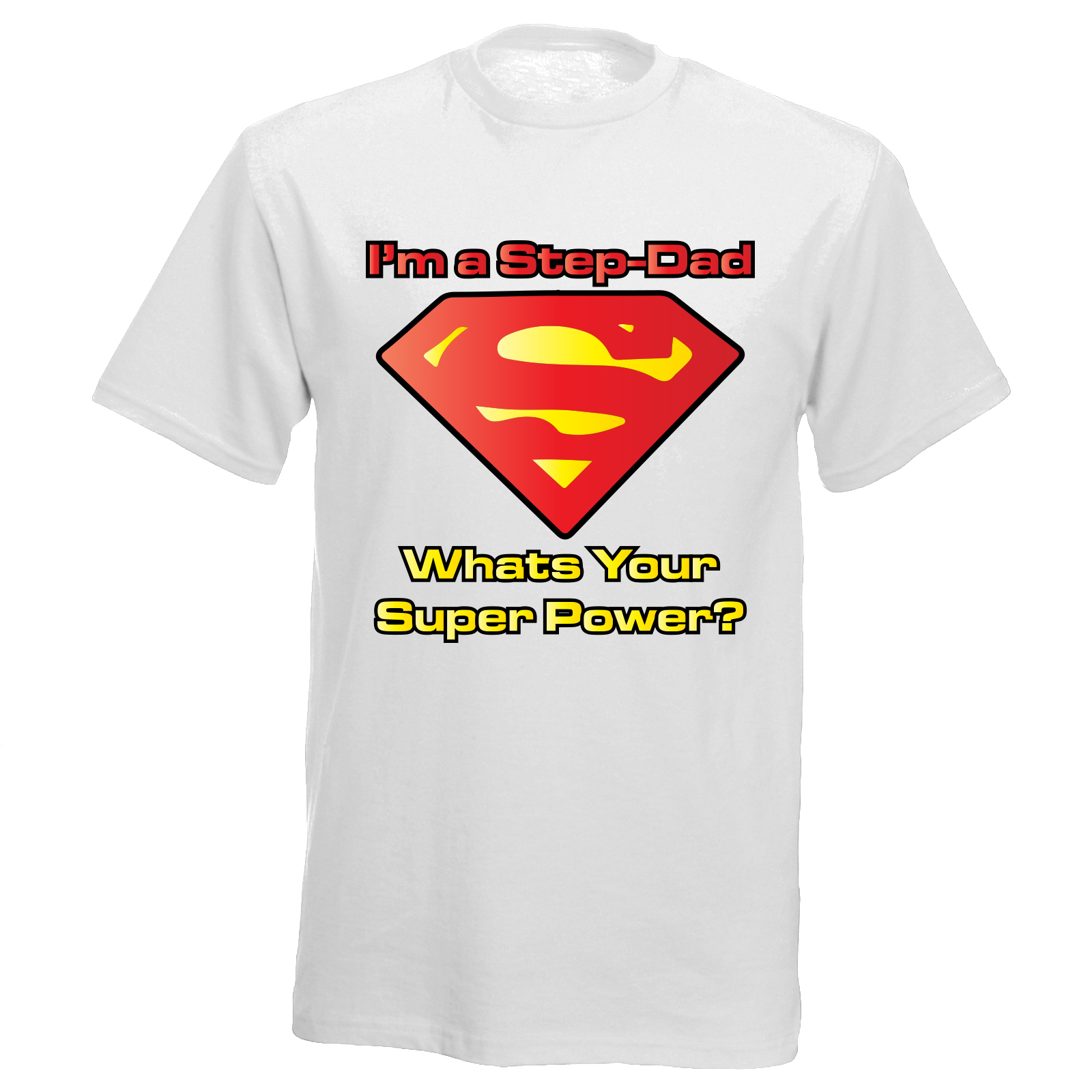 1b84973d Superman Inspired Fathers Day Step Dad Boys Mens Funny Joke T Shirt ...