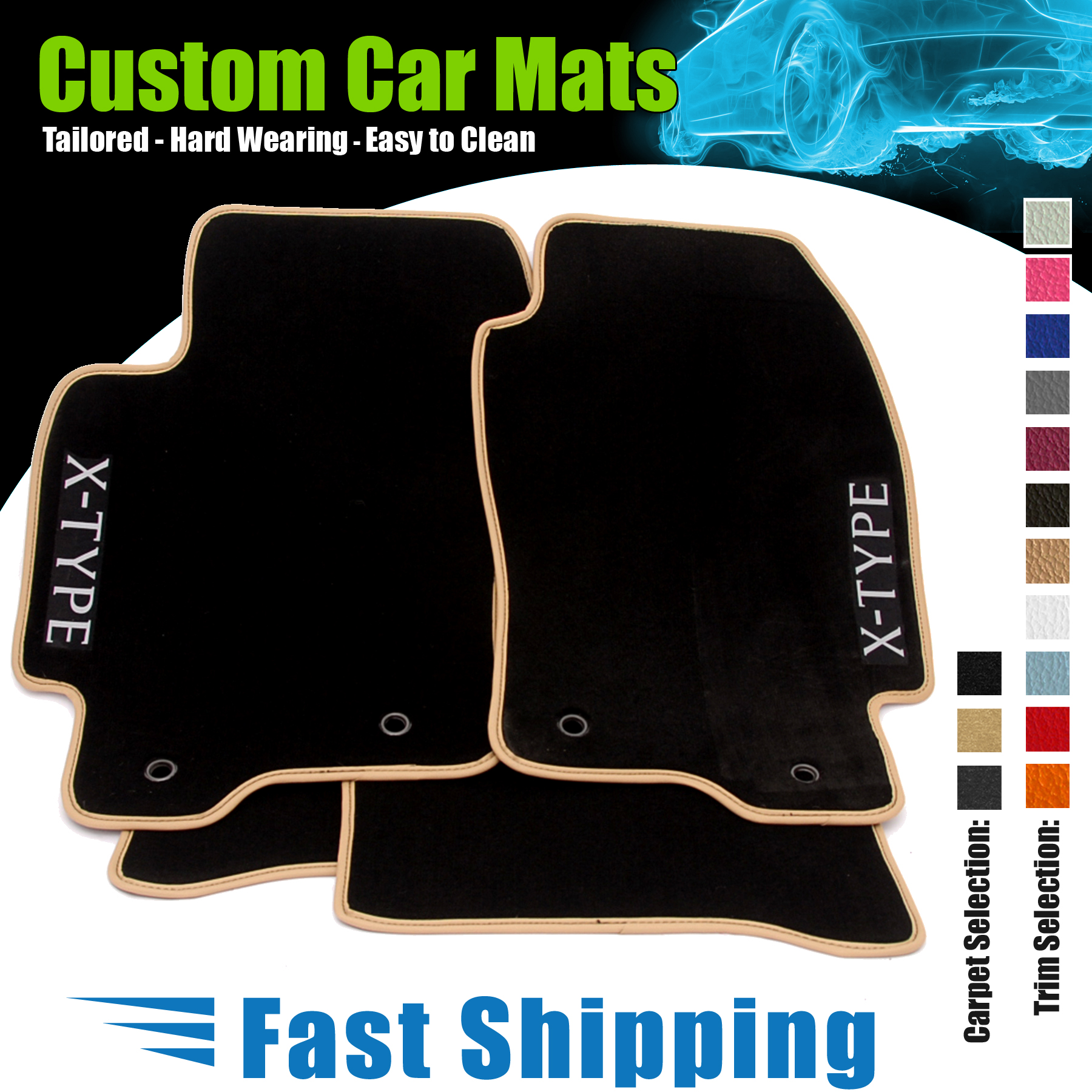 Floor mats jaguar s type - Item Specifics