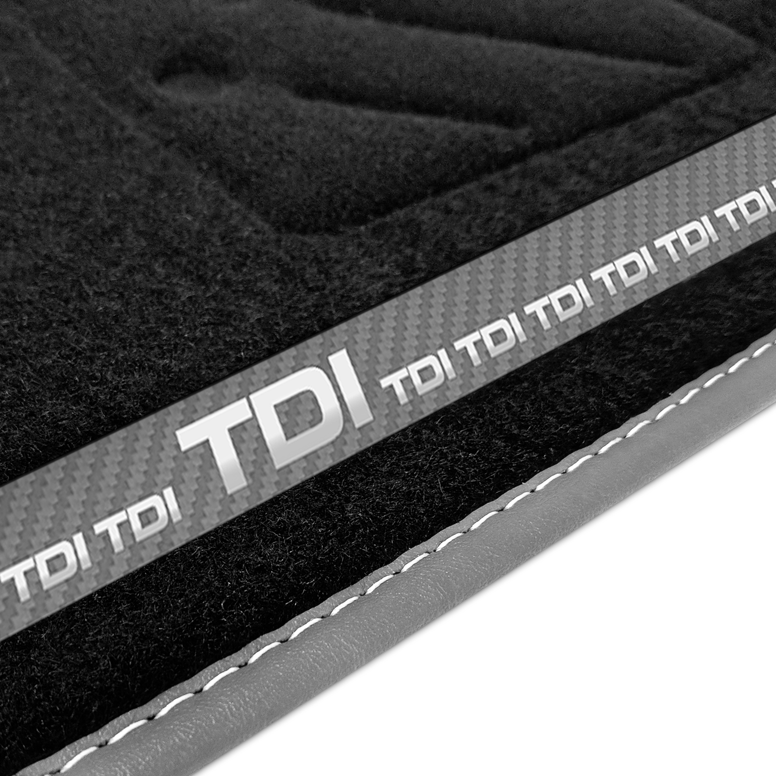 To fit A4 // A4 Avant 1077 B8 Tailored Black Rubber Car Mats Heavy Duty 2007-2015