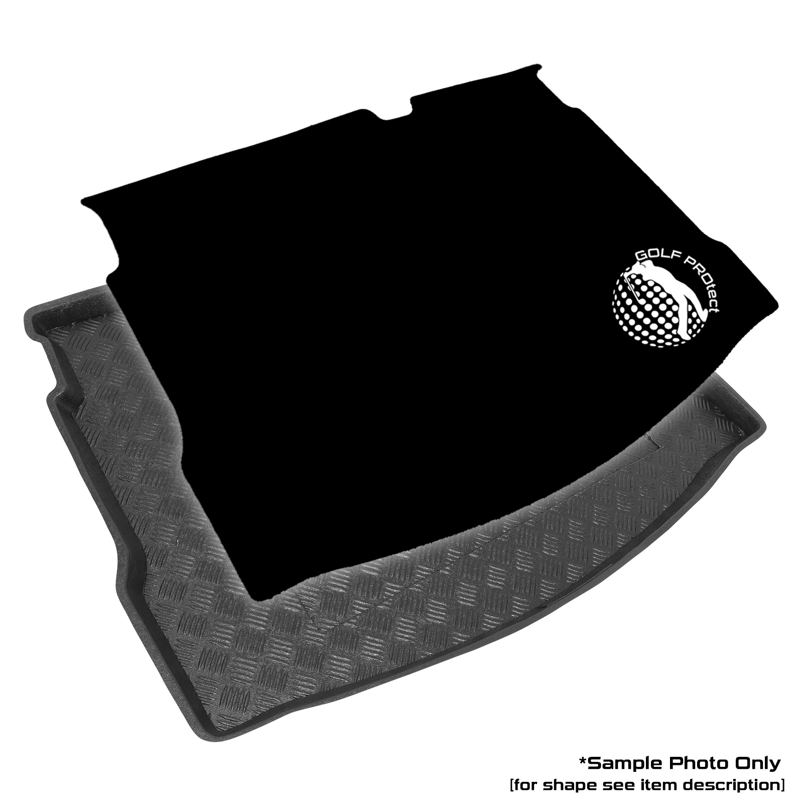 Black Carpet Insert carmats4u To fit Jazz 2008-2014 Fully Tailored PVC Boot Liner//Mat//Tray