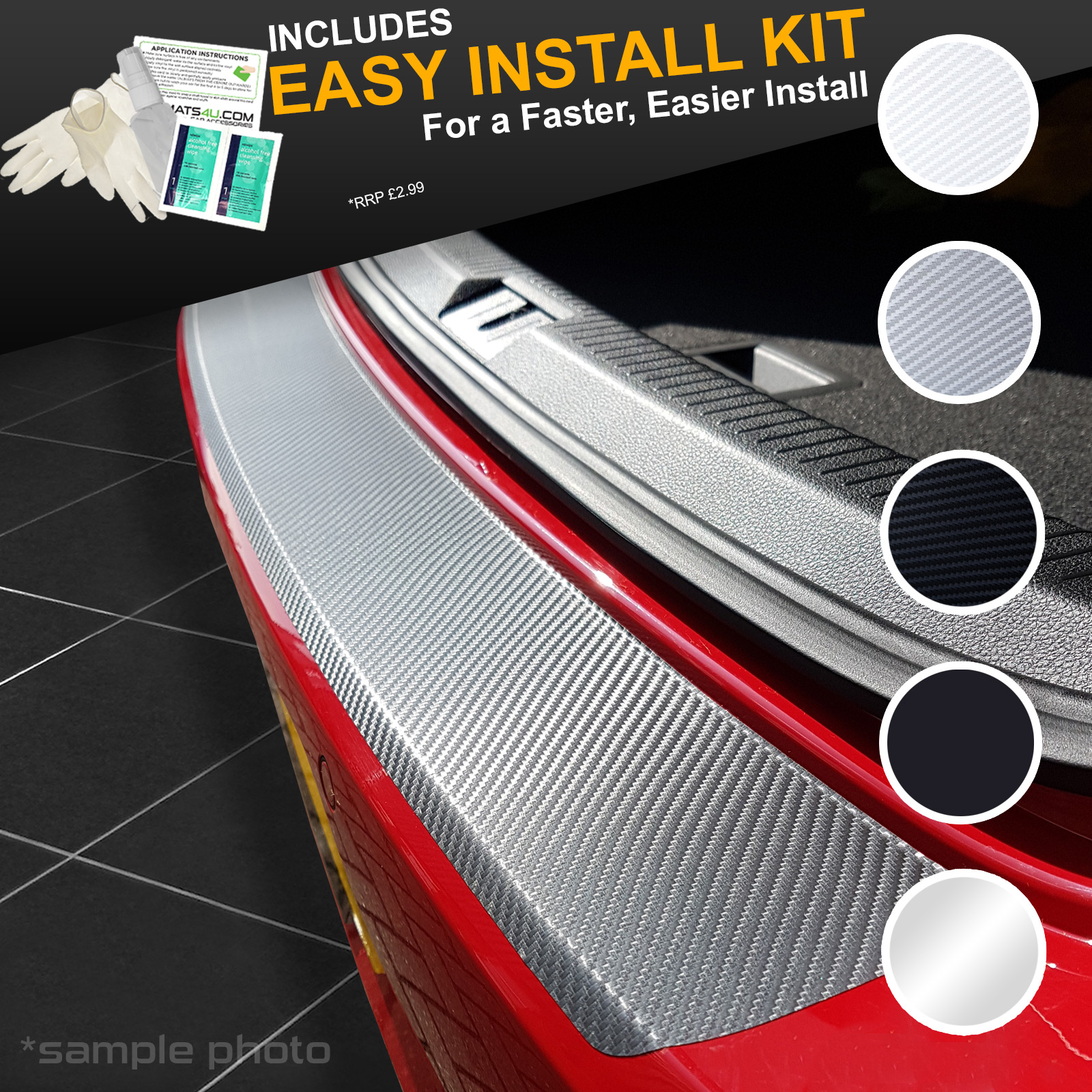 KIT V VINYL BUMPER PROTECTOR 5753 Audi A3 5 Door Sportback 2012