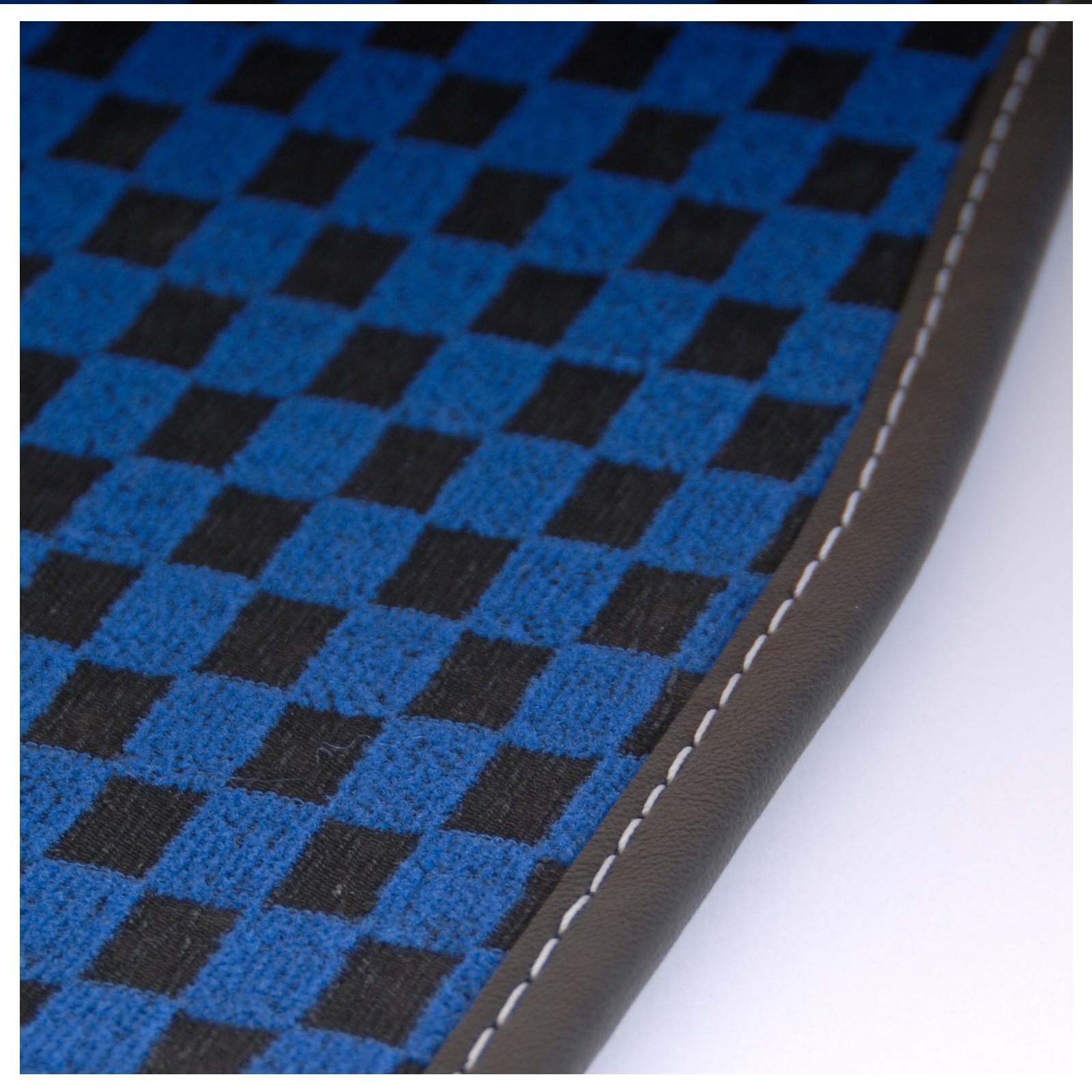Checkered Mat: BMW 3 Series (E93) (2007 Onwards) BLUE CHECKERED Tailored