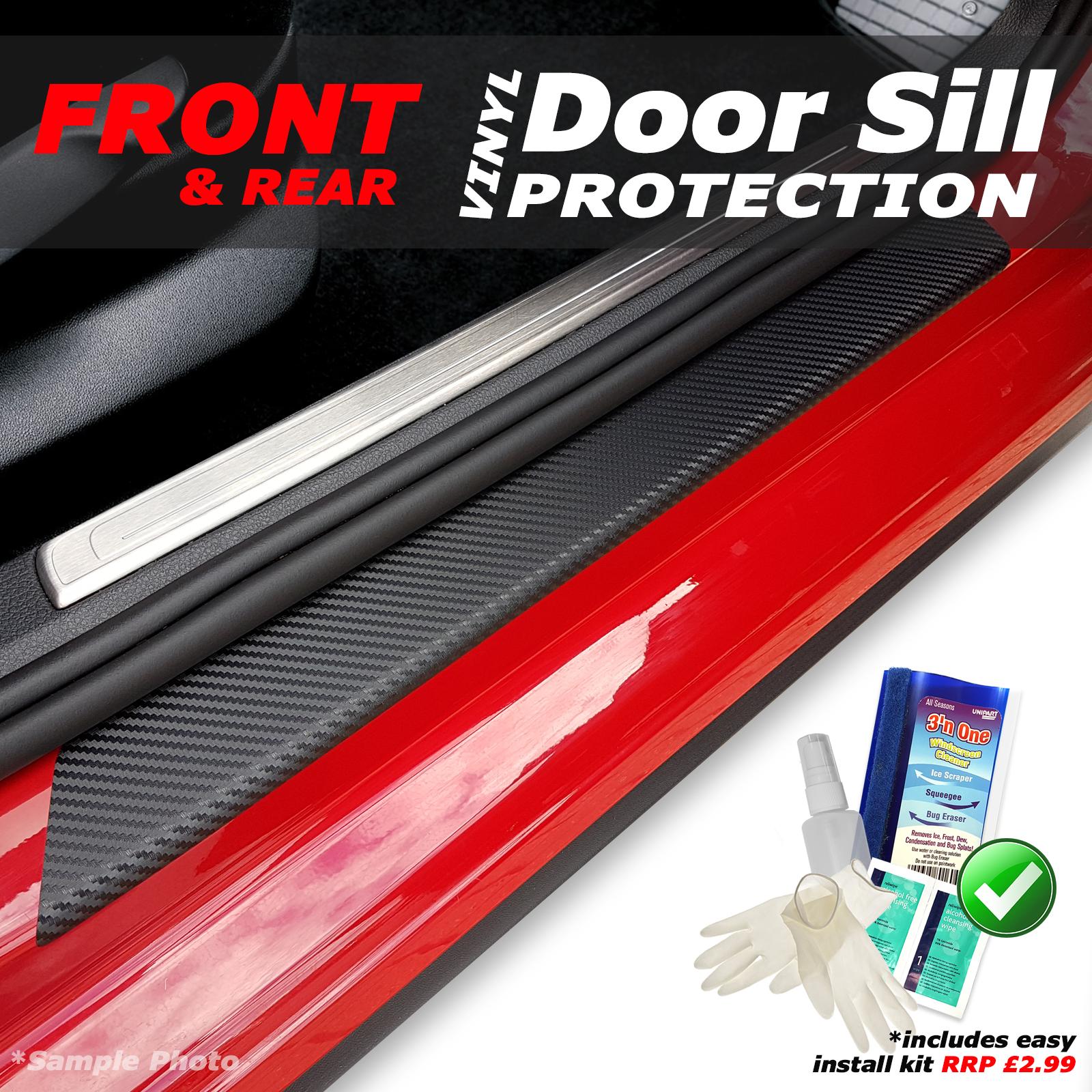 KIT! Ford Kuga 2013 4PC Matt Black Vinyl Door Sill Protectors