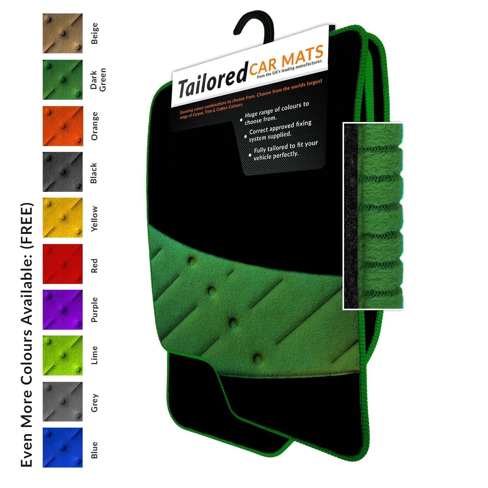 green car floor mats. Seat-Leon-MK2-2005-2012-Tailored-Black-Car- Green Car Floor Mats