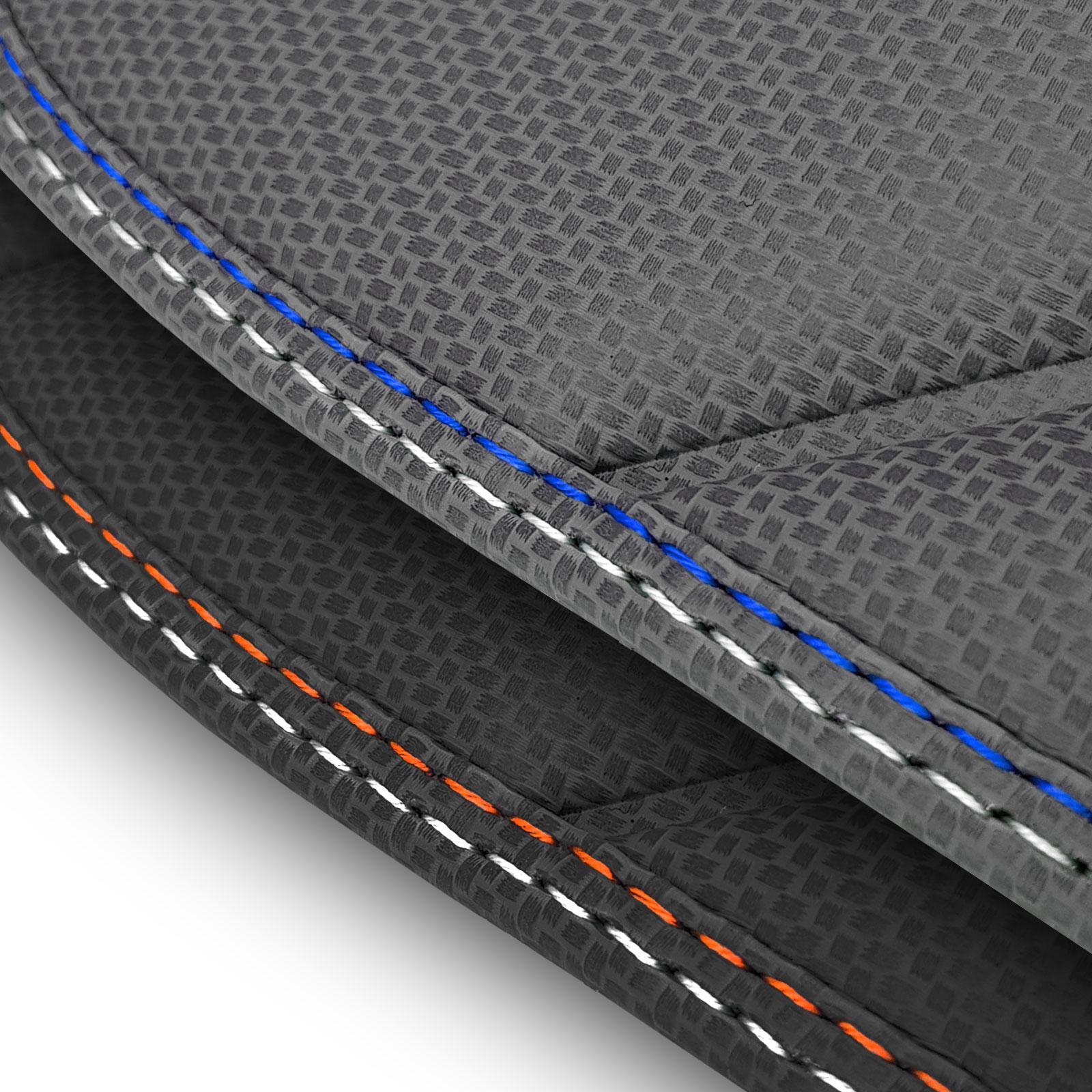 VOLKSWAGEN-t-Roc-Car-Mats-2017-de-carbono-a-medida-RHD miniatura 6