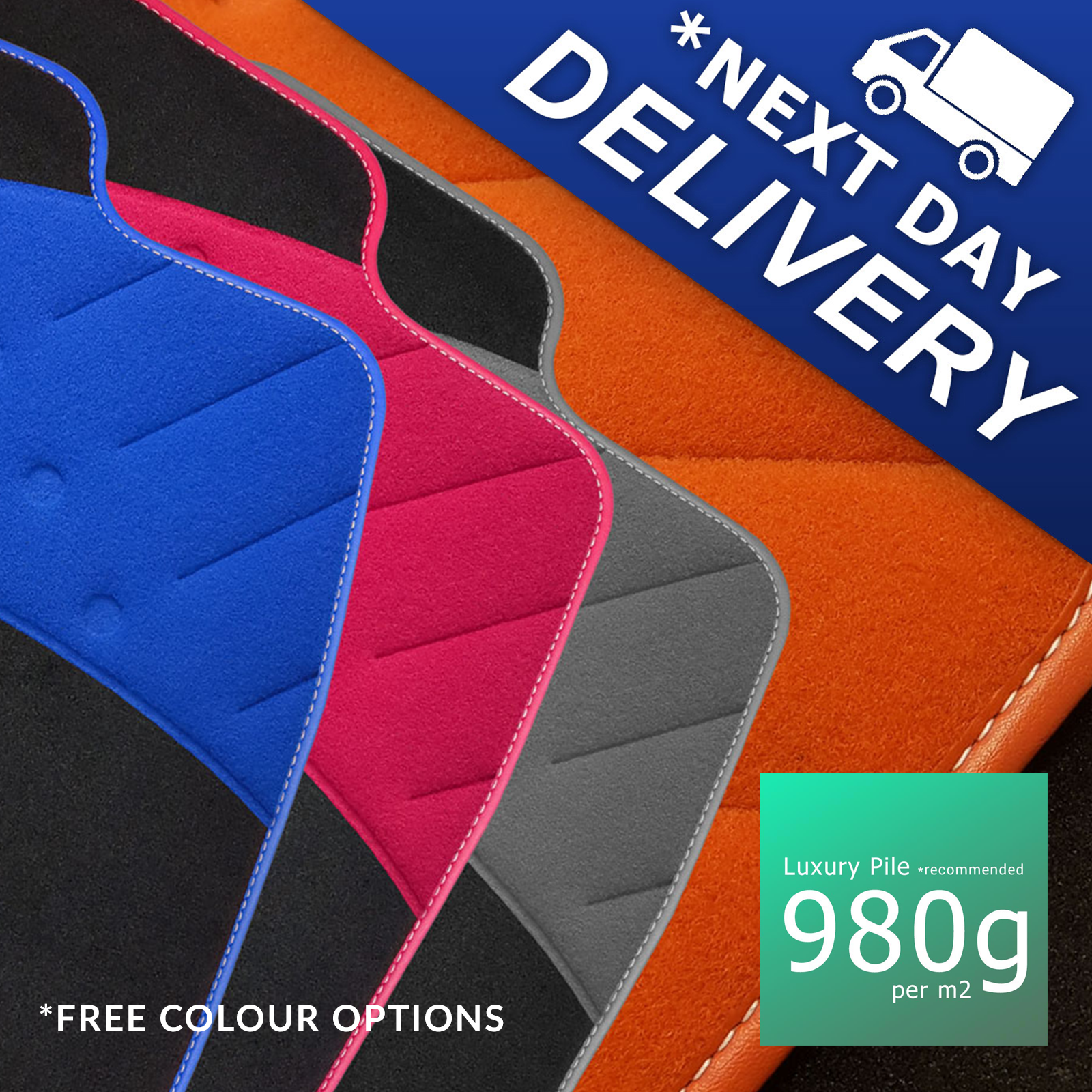 4 Tailored Custom Car Mats Ford Galaxy 2015