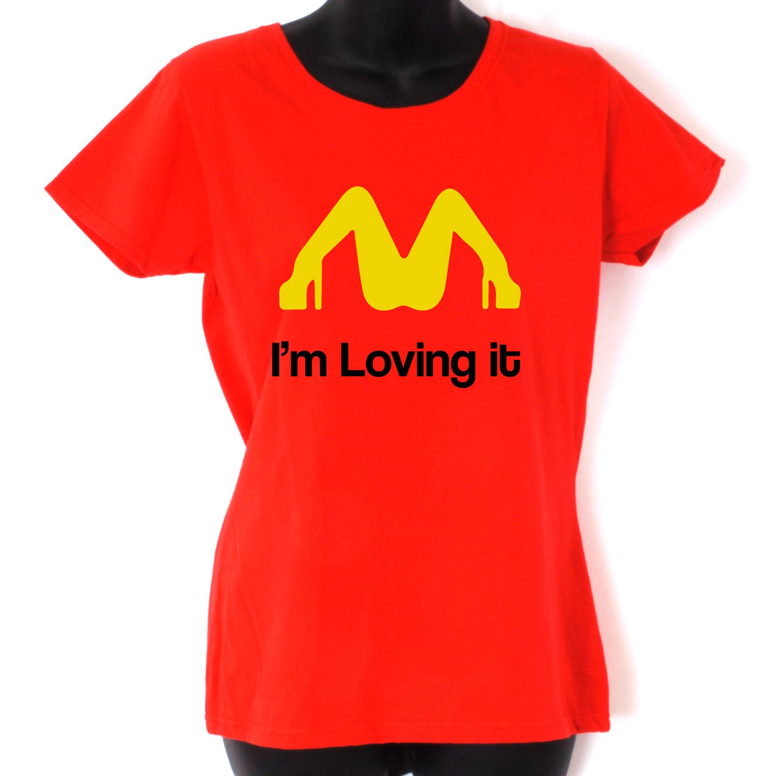 Mcdonalds I M Loving It Funny Jokes T Shirt Funny Mens