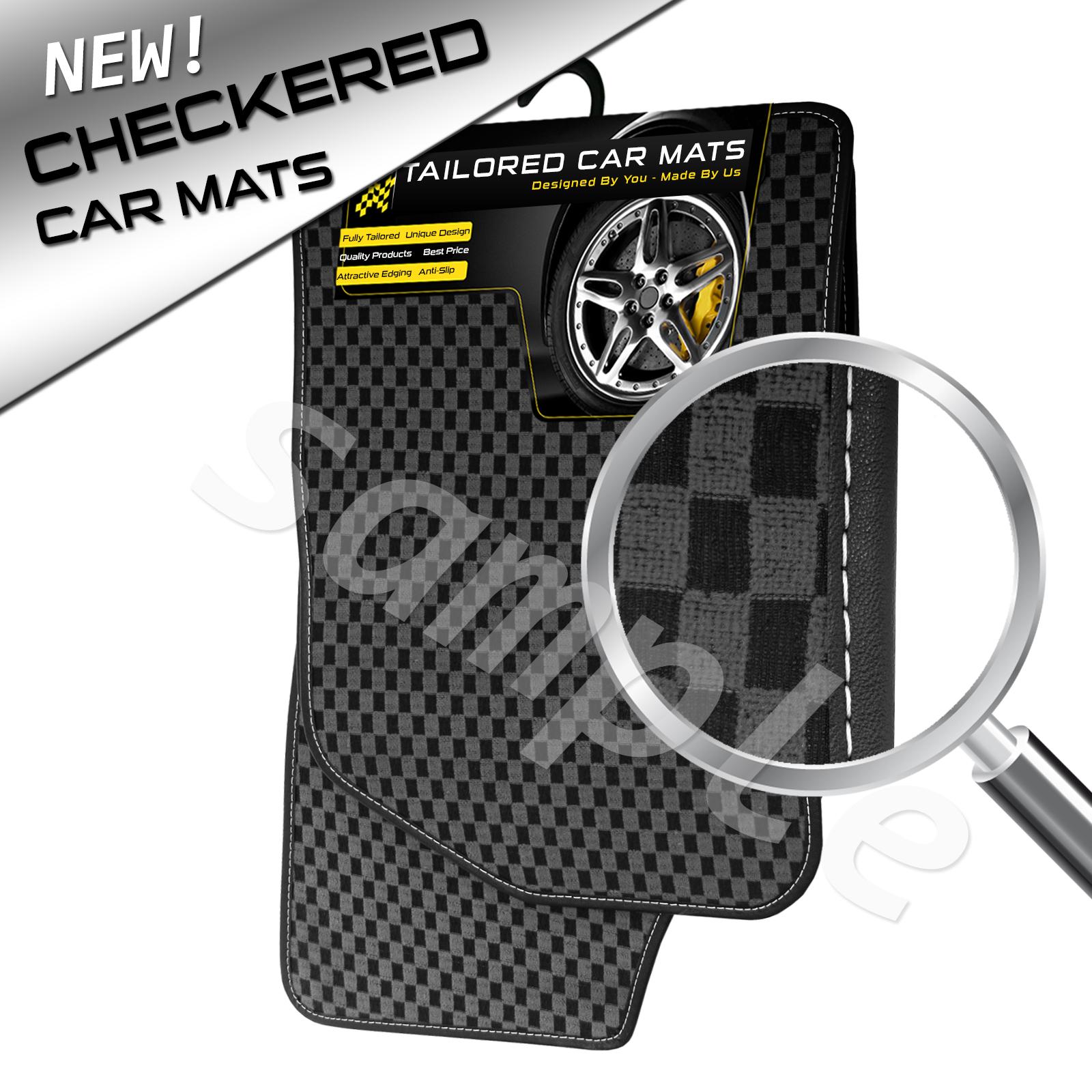 Checkered Mat: BMW X4 (2014+) GREY CHECKERED Tailored FLOOR Car Mats