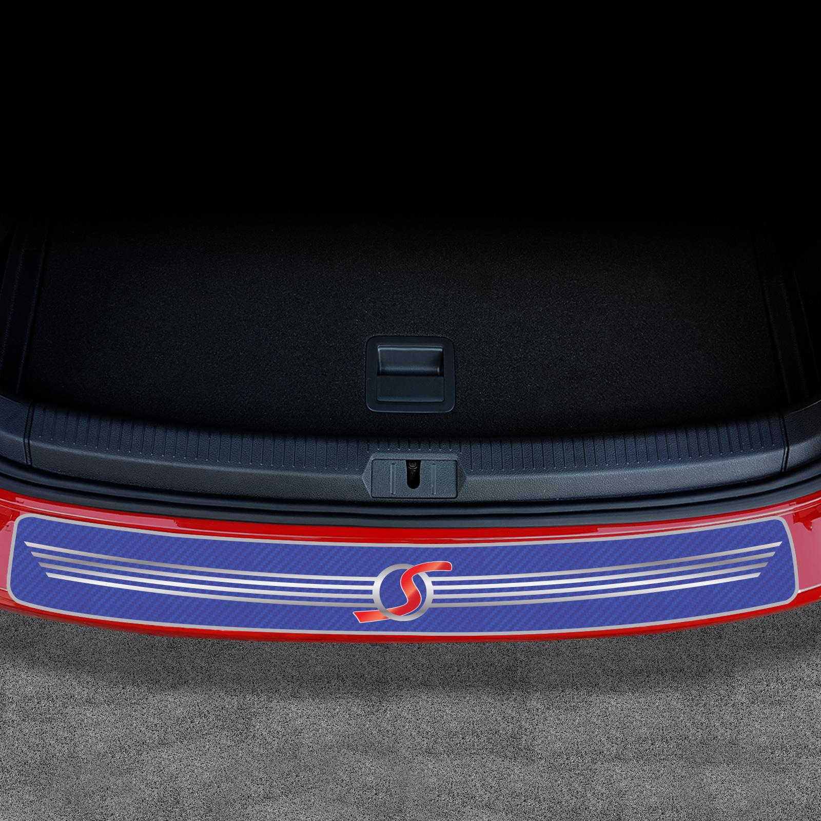 REAR BUMPER SILL PROTECTOR TRIM COVER STEEL CARBON BMW X3 FL e83 2007-2010